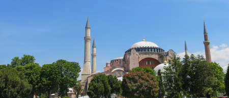 Istanbul, Sultanahmet square with views of the Hagia Sophia. More than 32 million tourists visit Turkey each year. Hagia Sophia was a Greek Orthodox Christian patriarchal basilica (church), later an imperial mosque in Istanbul, Turkey