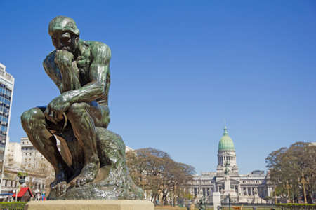 The Thinker by Rodin-second cast in the original cast and signed by Rodin himself. Buenos Aires, Argentina