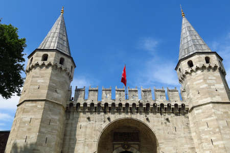 The Gate of Salutation of Topkapi Palace, Istanbul, Turkey Editorial