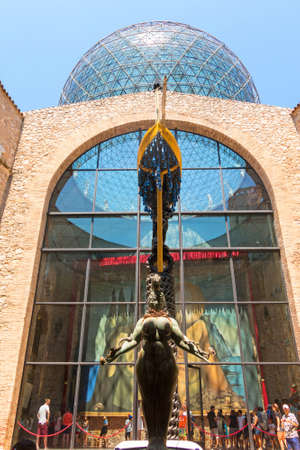FIGUERES, SPAIN-JULY 17, 2017: Details from the interior of the famous museum and theatre of Salvador Dali in his home town of Figueres, in Catalonia, Spain.