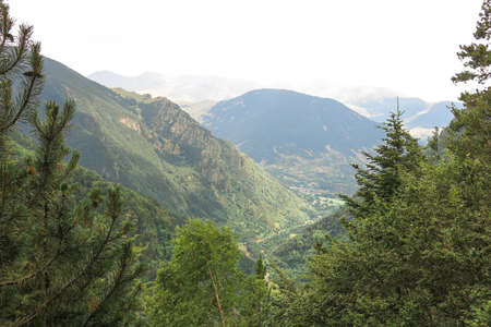 View inside the Aigüestortes National Park in the Catalan Pyrenees, Spain Stock Photo