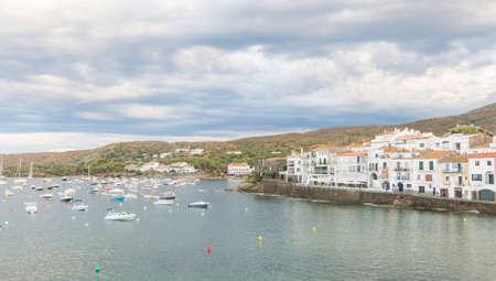 Panoramic view of Cadaques on Mediterranean seaside, Costa Brava, Catalonia, Spain