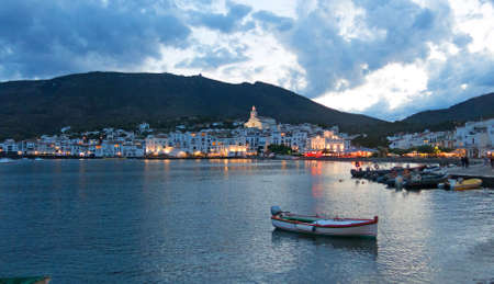 Cadaques sunset. Romanticism in the Mediterranean Sea. The village of Salvador Dali, in Costa Brava, Girona, Catalonia, Spain.
