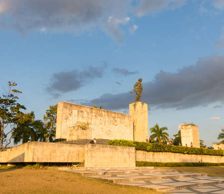 SANTA CLARA, CUBA-JANUARY 6, 2017: Tourists visits the Che Guevara Memorial and Museum in the village of Santa clara. He was commander of the Rebel Army in the 1959 revolution Editorial