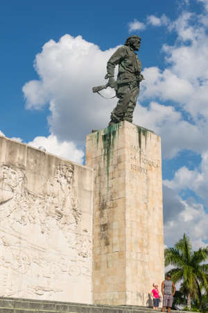 SANTA CLARA,CUBA-JANUARY 6, 2017: Statue of Che Guevara in the Memorial and Museum in Santa clara. Che Guevara was a commander in the Rebel Army who overthrew Batista from government in 1959.