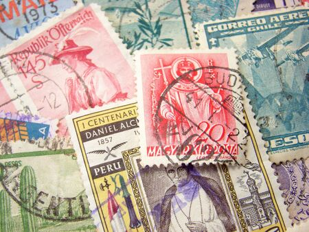 Old Postage Stamps from different countries.