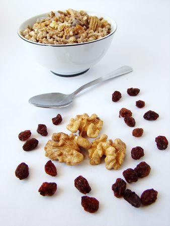 alimentacion balanceada: Dieta equilibrada de ingredientes para el desayuno. Foto de archivo
