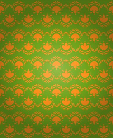 Seamless pattern background in green and orange Stock Photo - 3663748