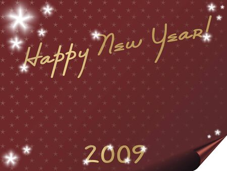 New year card background with stars - space for text.