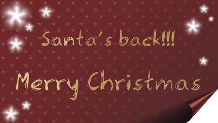 Santas back!- Christmas card background with stars. Stock Photo