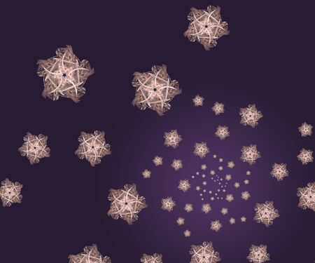 Stars fractal background in purple and pink photo