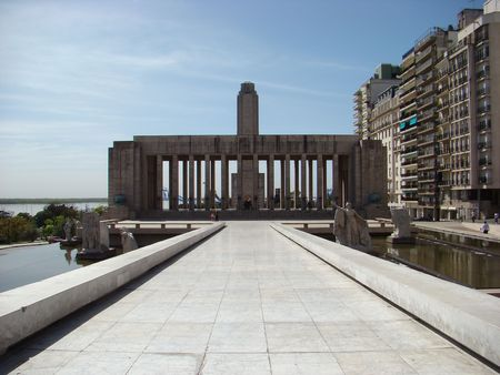 Monumento a la Bandera (Flag Memorial) in Rosario, Argentina - back view