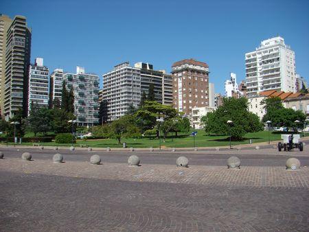 ロサリオ, アルゼンチン - 日スカイラインの都市の光景 写真素材 - 4723876