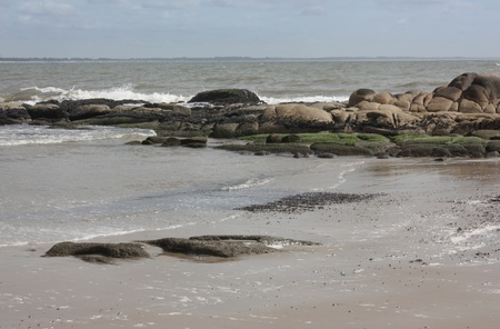 Beach Rocks in Rocha state, northern Uruguay.