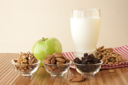 balanced diet: Healthy breakfast for a balanced diet Stock Photo
