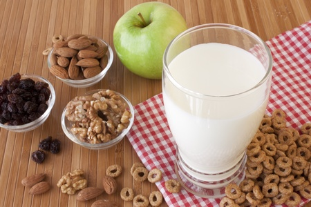 Healthy breakfast for a balanced diet Stock Photo