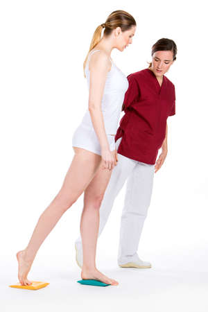 physiotherapist with woman patient