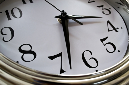 after midnight: Analog clock