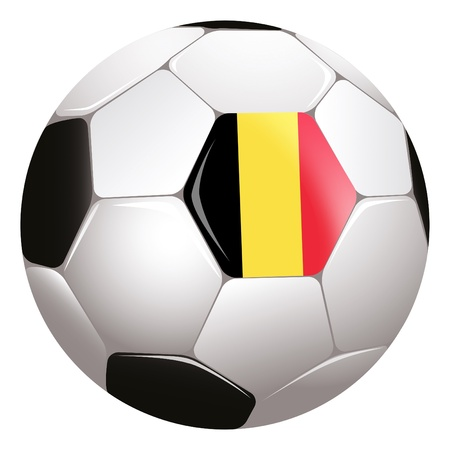 football with Belgium flag