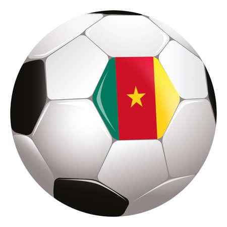cameroon: calcio con bandiera Camerun