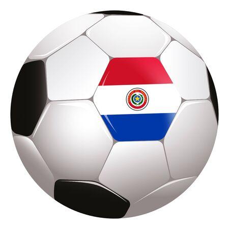 Paraguay flag: de f�tbol con la bandera de Paraguay