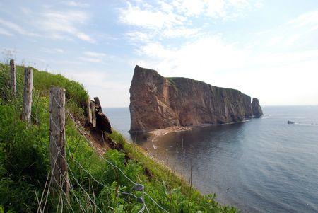 Hole Rock of Percé Quebec, Canada Banco de Imagens