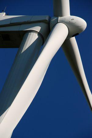 environmentalism: Wind Turbine Close-Up Stock Photo