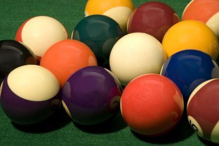Pool Ball on green velvet