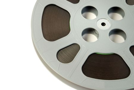 Film reel close-up Stock Photo