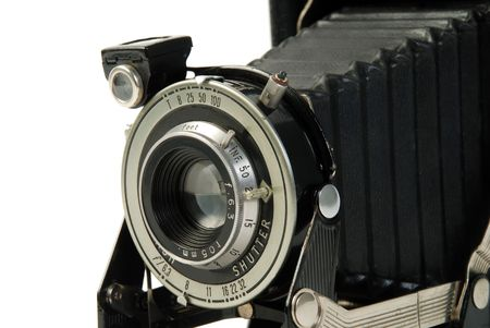 vintage Photo folding camera, roll film  Stock Photo