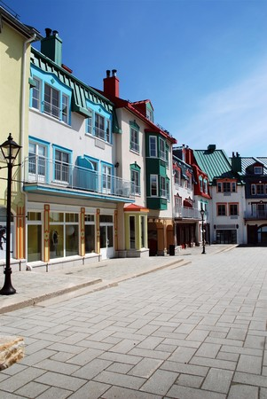 Luxury colored place at Mont-Tremblant Stock Photo