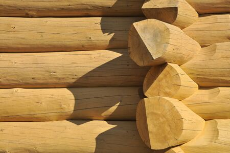 Wood constructed wall of an rural  old style cabin Stock Photo - 10432689