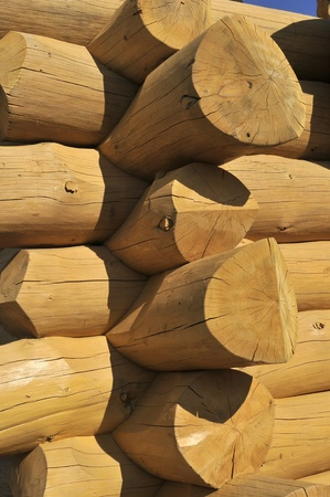 Wood constructed wall of an rural  old style cabin Stock Photo - 10432678