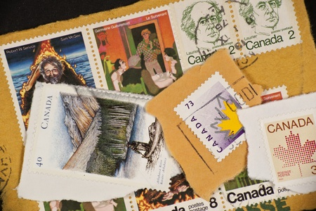 Range of Canadian postage stamps from Canada photo