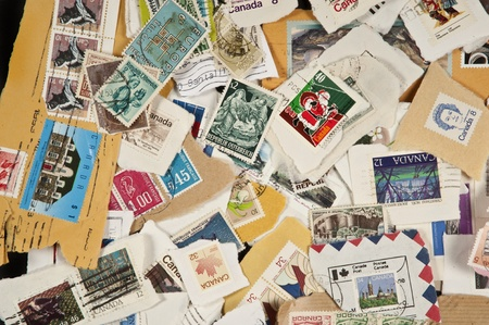 Collection of mixed postage used stamps