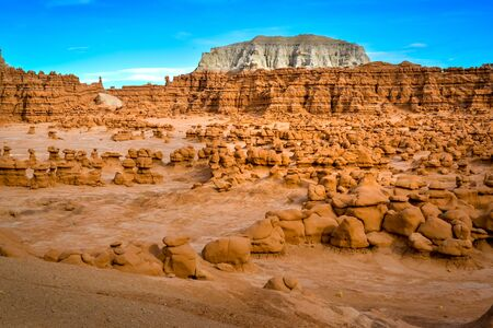 rock formation in the shape of fairy chimneys at Goblin valley Utah USA Stock Photo