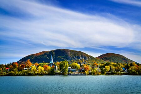 Mont-Saint-Hilaire Quebec mountain in autumn