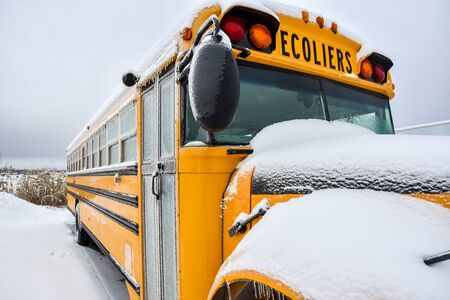 School closed due to bus caught in snowstorm