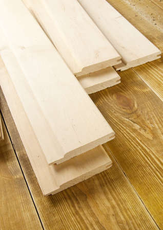 Wood planks are on a wooden board  Stock Photo - 13183158