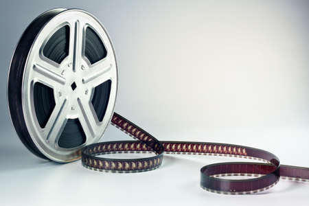 Old motion picture film reel photo