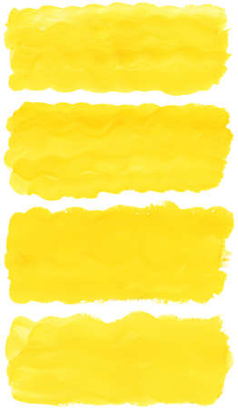 Set of watercolor paint brush strokes are isolated on a white background. photo