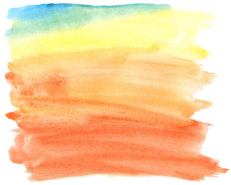 Abstract colorful watercolor brush strokes, may be used as background
