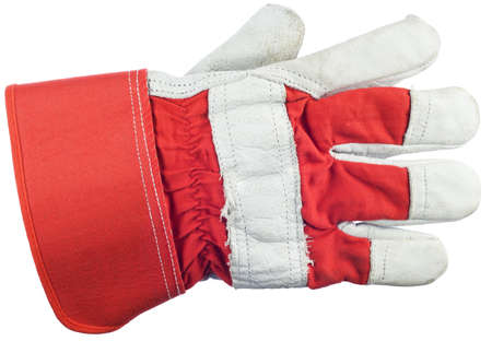 leather gloves: Work glove is isolated on a white background
