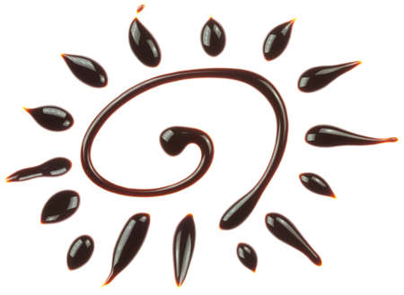 Chocolate sun is isolated on a white background photo