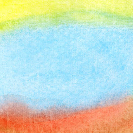 Abstract colorful watercolor hand painted background photo