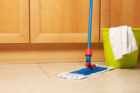 House cleaning with the mop Stock Photo - 14396735