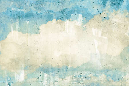 Cloud, sky painted on a wall texture Stock Photo - 15130508