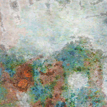 corrosion: Old,dirty, rusty and colored metal plate Stock Photo