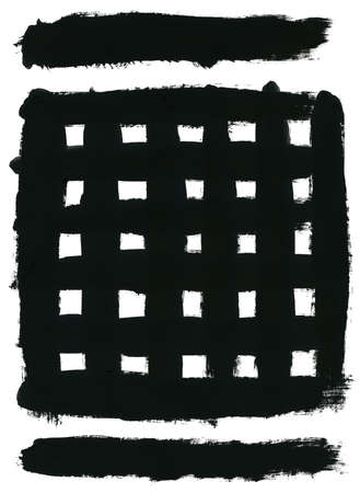 Black square and brush strokes photo