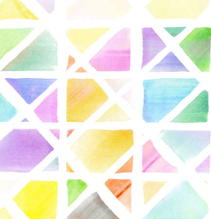 Colorful watercolor designed art,mosaic background Stock Photo - 15322605